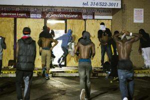 Rioting in Ferguson, Missouri, August 2014
