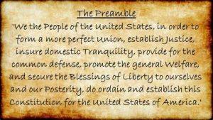 United States Constitution Preamble