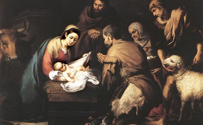 Shepherds worship Jesus