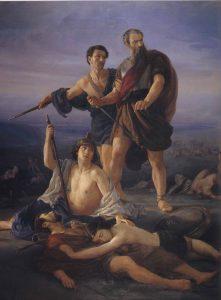 """Death of King Saul"", 1848, Elie_Marcuse_saul"