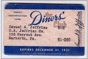 Diner's Club Credit Card