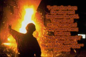 Zechariah 13:9 Refine them like silver